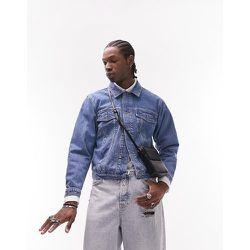 Veste en jean style western classique en tissu recyclé - délavé clair - Topman - Modalova