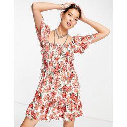 Channel - Robe courte à imprimé floral - Topshop - Modalova