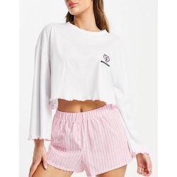 Ensemble de pyjama avec top à inscription Heartbreaker et short - Topshop - Modalova