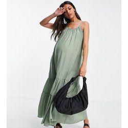 Maternity- Robe babydoll mi-longue à volants étagés - Topshop - Modalova