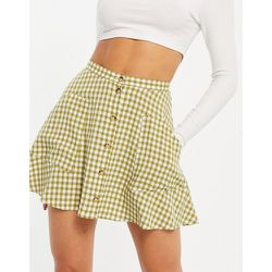 Mini-jupe boutonnée à carreaux - Topshop - Modalova