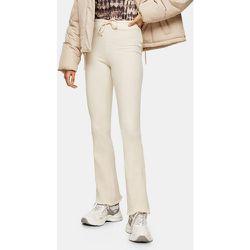 Pantalon évasé côtelé avec poches - Écru - Topshop - Modalova
