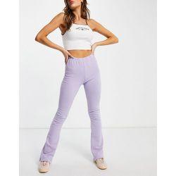 Pantalon évasé en jersey doux - Lilas - Topshop - Modalova