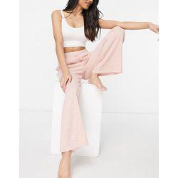 Pantalon large en maille - Topshop - Modalova