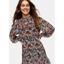 Petite - Robe courte froncée à empiècement - Imprimé fleurs - Topshop - Modalova