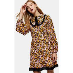 Robe courte oversize à col et imprimé floral - Topshop - Modalova
