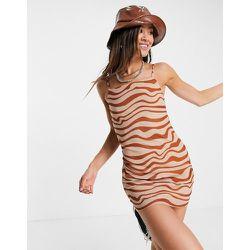Robe nuisette courte en tulle à imprimé animal - Topshop - Modalova