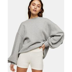 Short legging duveteux - Crème - Topshop - Modalova