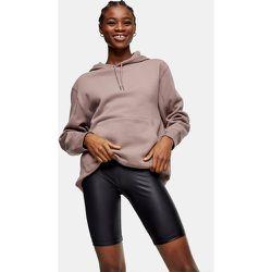 Short legging effet mouillé - Noir - Topshop - Modalova