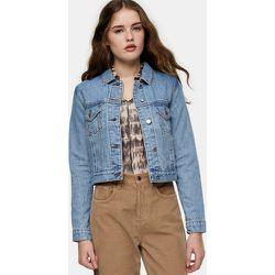 Veste oversize en jean de coton recyclé - Bleu délavé moyen - Topshop - Modalova