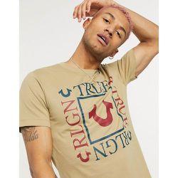 T-shirt ras de cou avec logo carré - True Religion - Modalova