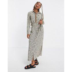 Robe chemise mi-longue imprimée - Vila - Modalova