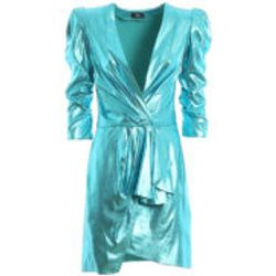 Robe De Cocktail - Bleu Clair - Elisabetta Franchi - Modalova