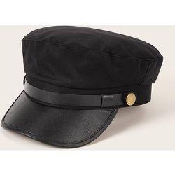 Casquette gavroche avec ceinture en cuir PU - SHEIN - Modalova