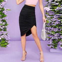Jupe asymétrique avec plis - SHEIN - Modalova