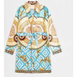 Robe de chambre en satin à imprimé baroque - SHEIN - Modalova