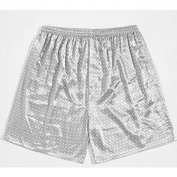 Short de pyjama en satin à imprimé géométrique - SHEIN - Modalova