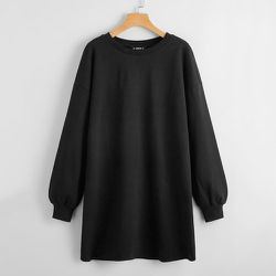 Robe sweat-shirt unicolore - SHEIN - Modalova