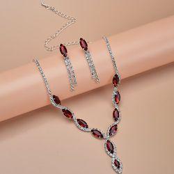 Collier à gemme & Boucles d'oreilles - SHEIN - Modalova