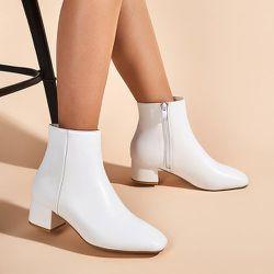 Bottines à talons épais minimaliste - SHEIN - Modalova