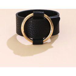 Bracelet en cuir PU large - SHEIN - Modalova