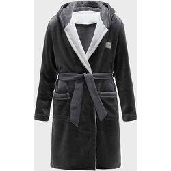Peignoir à capuche en flanelle avec ceinture - SHEIN - Modalova