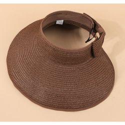 Chapeau de visière en paille - SHEIN - Modalova