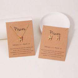 Collier avec pendentif constellation & Boucles d'oreilles - SHEIN - Modalova