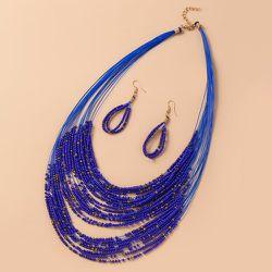 Collier avec perles & Boucles d'oreilles - SHEIN - Modalova