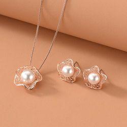 Collier à perle & Boucles d'oreilles - SHEIN - Modalova