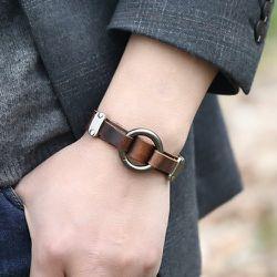Homme Bracelet en cuir PU - SHEIN - Modalova