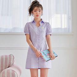 Robe chemise fleurie - SHEIN - Modalova