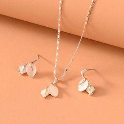 Collier à opale & 1 paire Boucles d'oreilles - SHEIN - Modalova