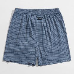 Short de pyjama à carreaux patch - SHEIN - Modalova