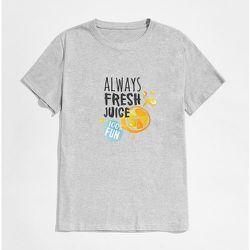 Homme Haut de pyjama slogan - SHEIN - Modalova
