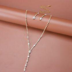 Collier à strass & 1 paire Boucles d'oreilles - SHEIN - Modalova
