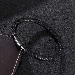 Bracelet tressé en cuir PUs - SHEIN - Modalova