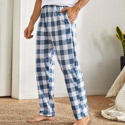 Pantalon de pyjama à carreaux - SHEIN - Modalova