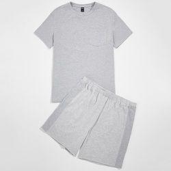 Ensemble de pyjama t-shirt avec poche & short - SHEIN - Modalova