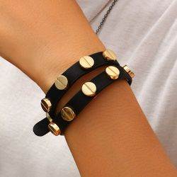 Bracelet en cuir PU - SHEIN - Modalova
