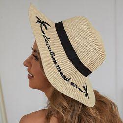 Chapeau de paille avec broderies - SHEIN - Modalova