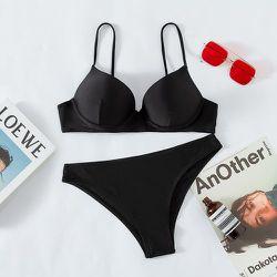 Bikini push-up échancré - SHEIN - Modalova