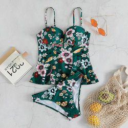 Bikini push-up fleuri - SHEIN - Modalova