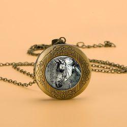 Collier avec pendentif de médaillon ouvert - SHEIN - Modalova