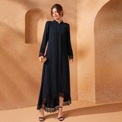Robe tunique en dentelle asymétrique - SHEIN - Modalova