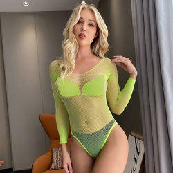 Body de lingerie clouté à strass (sans soutien-gorge) & Culotte - SHEIN - Modalova
