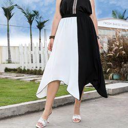 Jupe bicolore asymétrique - SHEIN - Modalova