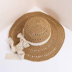 Chapeau de paille à nœud - SHEIN - Modalova