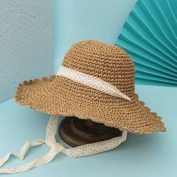 Chapeau de paille creux - SHEIN - Modalova