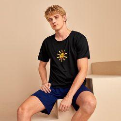 Haut de pyjama à imprimé soleil - SHEIN - Modalova